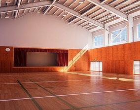 3D model Japanese School Gym - Over 30 Assets Pack
