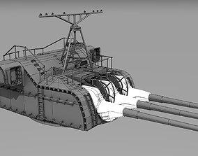 3D print model NENDO SHIKI gun for yamato and musashi 3