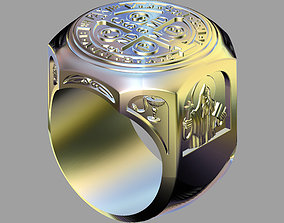 Saint Benedict Exorcism Ring 3D print model