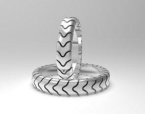 Simple narrow wedding bands 3D printable model