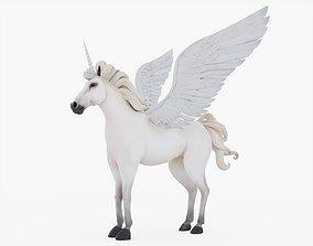 3D model Unicorn with Fur