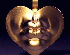 Kiss Me Pendant 3D printable model