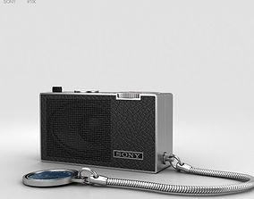 3D model Sony ICR-100 Radio