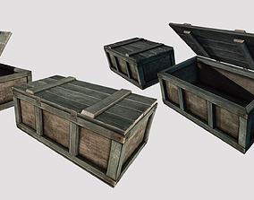 Wooden Loot Crate 01 3D asset