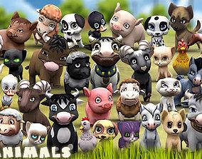 3DRT - Chibii Animals animated low-poly