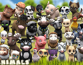 3DRT - Chibii Animals animated low-poly