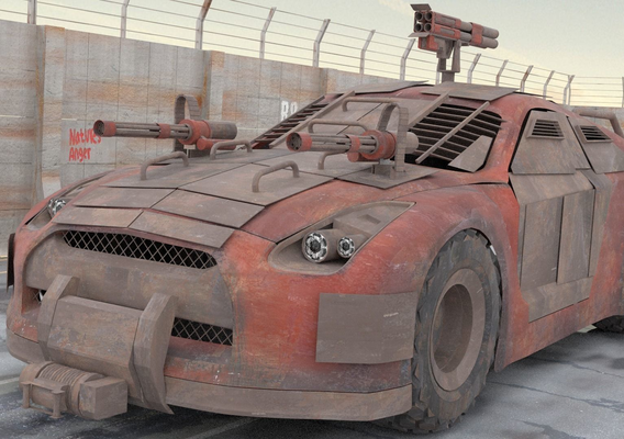 Post apocalyptic NISSAN GT-R