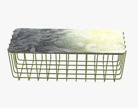 3D Blu Dot Scamp Large Table - Marble Top