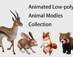 3D Animated Rabbit Squirrel Antelope Racoon