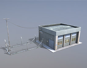 MilitaryBase PortoVelho PowerStation 3D asset
