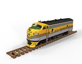 3D asset Diesel Locomotive