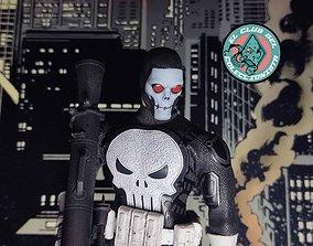 Punisher head sculpt 3D print model