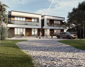 Modern Villa 3D model house