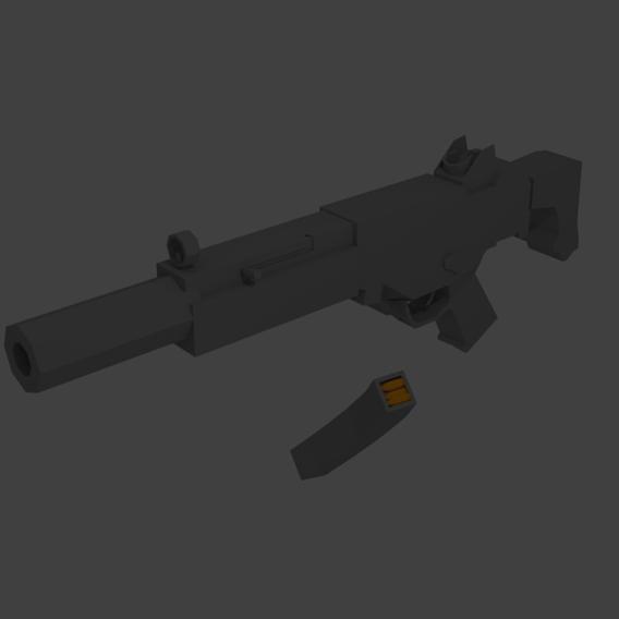 Low  poly gun
