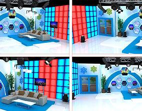 3D TV Show Studio Decorate show