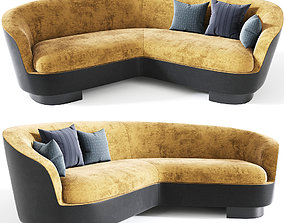 3D Minotti Jacques Curved Sofa