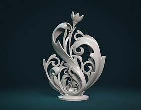 Scroll plant Sculpture 3D printable model