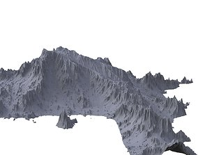 Mountain for river location low res model 3D