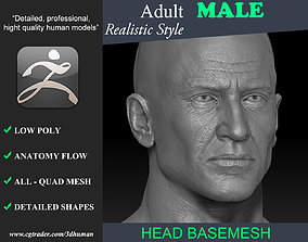 3D model Realistic Male Head 191114