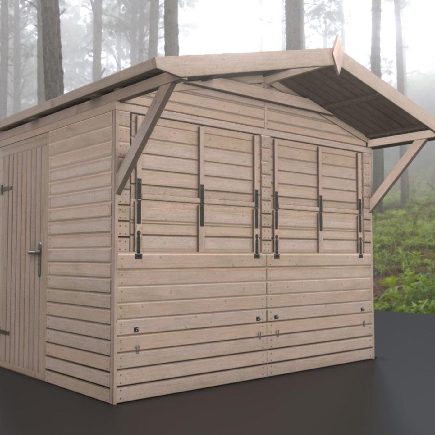Wooden Market Stall Version -1-