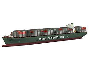 Xin Los Angeles Cargo Ship 3D model