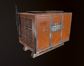 3D asset game-ready Industrial Power old generator