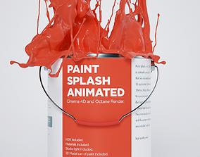 3D model Paint Splash