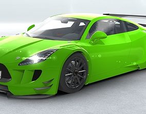 Generic Sports Car GT3 Realtime 3D asset