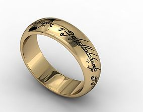 jewellery ring lord of the rings 3D print model