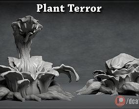 Plant Terror - 3D Printable Monster - 2 Poses