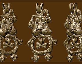 dog pendant 3D printable model