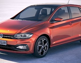 Volkswagen Polo R-line 2018 3D model