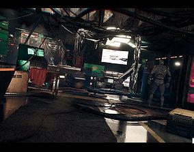 3D asset CyberPunk Laboratory Research Center Interior 1