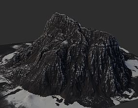 Snow Terrain - 4 OBJ High Poly to Low Poly - Tall 3D asset