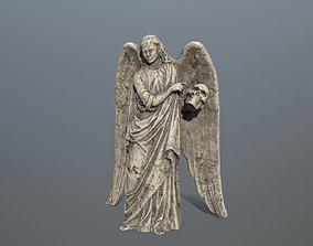 3D asset Angel Statue 03