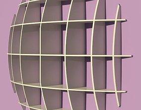 3D Spherical shelves