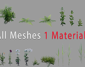 3D asset Ultimate Mobile Foliage Pack 01