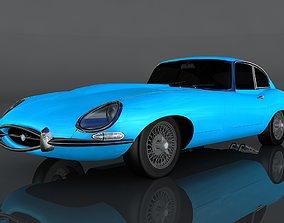 Jaguar E-type S1 3D asset