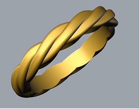3D print model wedding ring spiral
