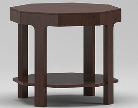 Dark Wooden Table 3D