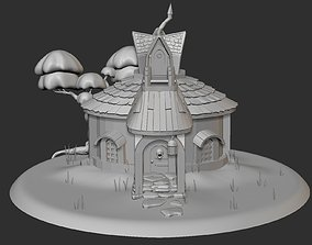 Cartoon House 3D model architecture