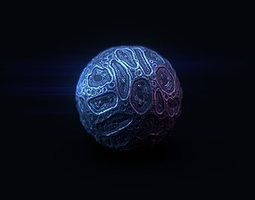 Guardians of the Galaxy Infinity Stone 3D model PBR