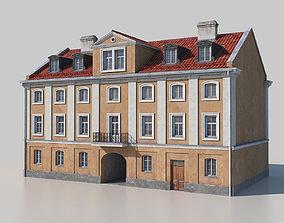 Classic building facade 02 3D asset