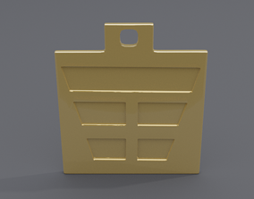 rgd gen trigram pendant 3D printable model
