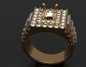 Big diamond ring for 3d printing large