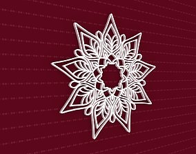 3D Mandala peace flower