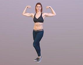 No136 - Female Body Builder hd 3D model