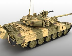 tank T90 T 90 t-90 main battle tank MBT armor 3D