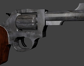 3D model Magnum Revolver low poly