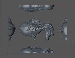 candy 3D model fish Lollipop
